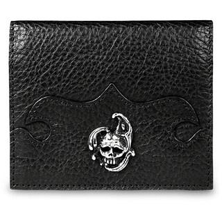 Zeyner Handmade Italian Black Leather Credit Card and ID Case