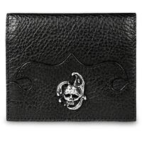 Zeyner Handmade Italian Black Leather Credit Card and ID Case