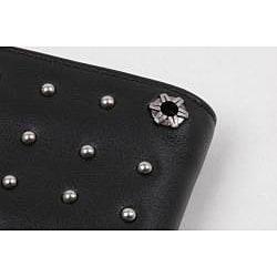 Zeyner Men's 'Stud Max' Bi-Fold Leather Wallet - Thumbnail 2