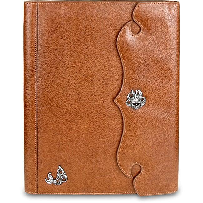 Zeyner Cognac Leather Folio Jotter