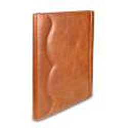 Zeyner Cognac Leather Folio Jotter - Thumbnail 1
