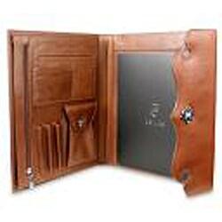 Zeyner Cognac Leather Folio Jotter - Thumbnail 2