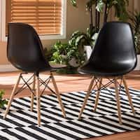 Clay Alder Home Hanalei Black Plastic 2-piece Dining Chair Set
