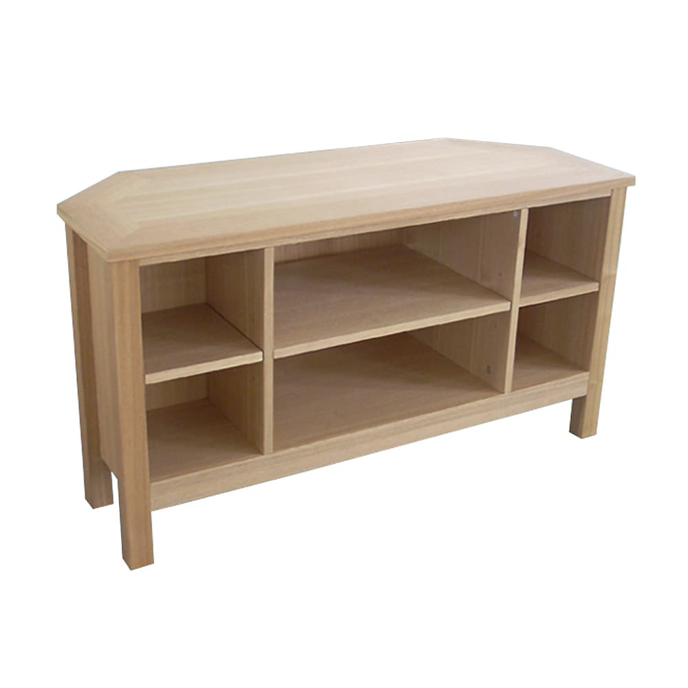 Oakrige Corner TV Stand with 6 Shelves