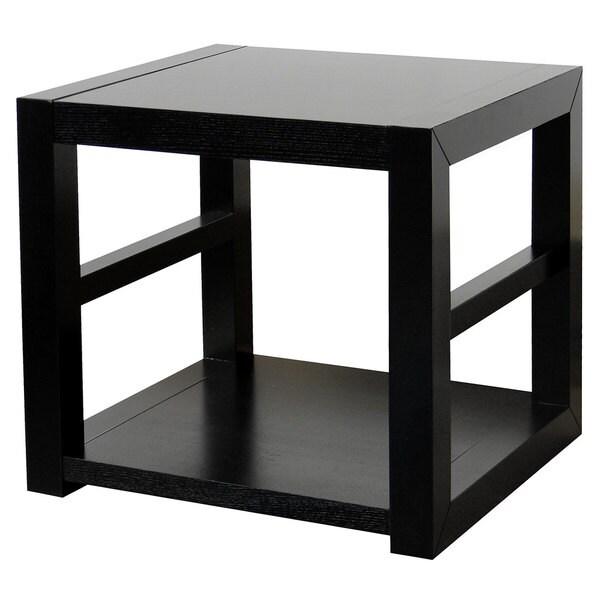 Richmond Espresso End Table with 1 Shelf