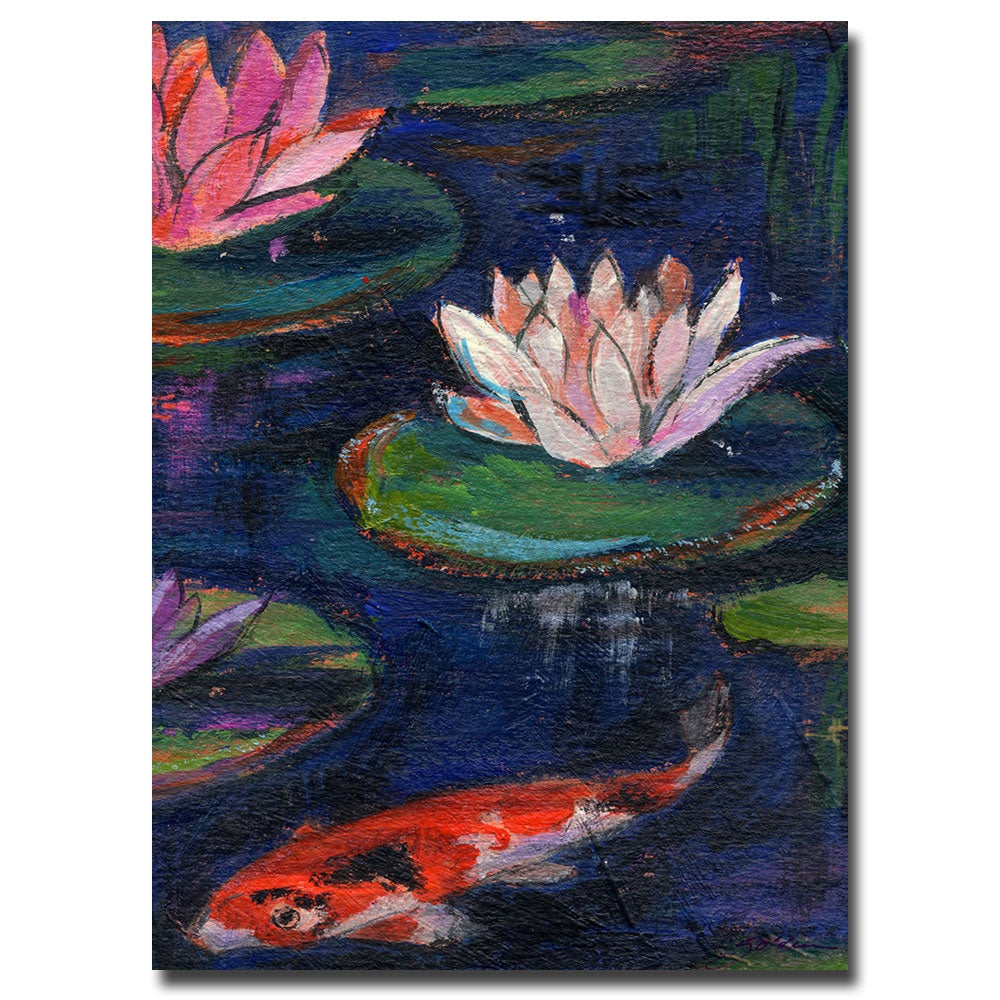 Shop Sheila Golden \'Lily Pad\' Canvas Art - Blue - Free Shipping ...