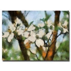 "Lois Bryan 'Dogwood Tree' Canvas Art, 22"" x 32"""