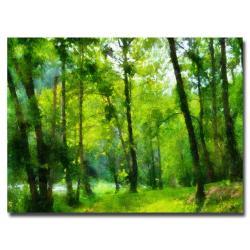 Lois Bryan 'Forest Walk in Sprint' Canvas Art