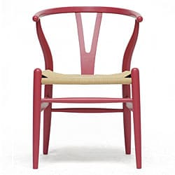 Mid Century Modern Pink Wood Y Wishbone Chair Free Shipping Today Oversto