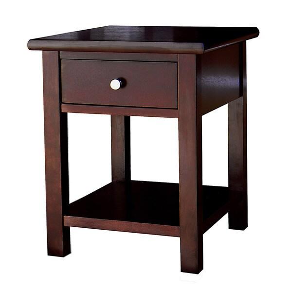 Austin Dark Birch End Table with 1 Drawer