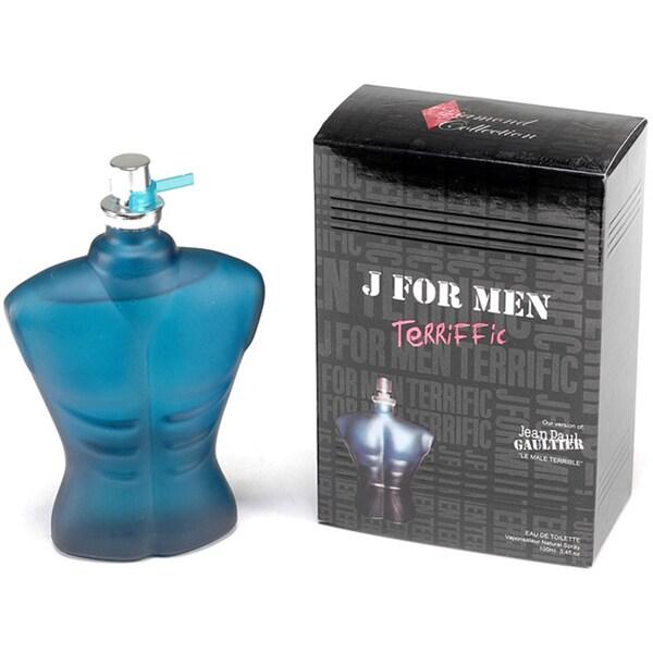 Diamond Collection 'J For Men Terriffic' Men's 3.4-ounce Eau De Toilette Spray