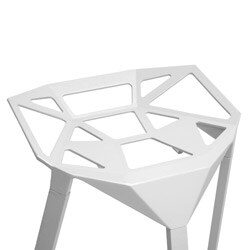 Modern White Metal Bar Stool by Baxton Studio