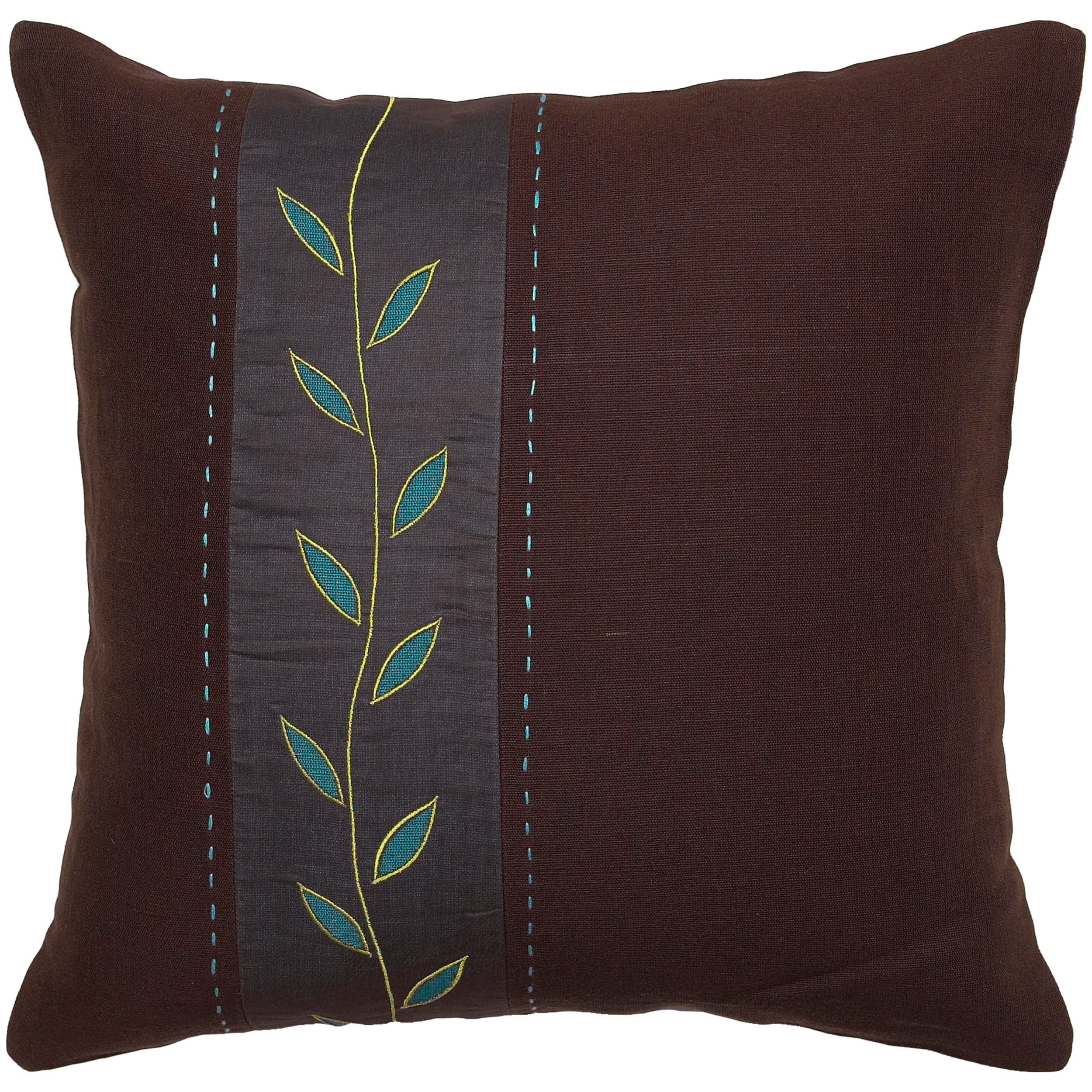Mattie Brown/ Green Vine Decorative Pillow