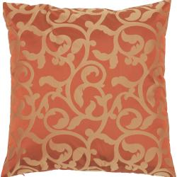 Kingston Red/Gold Scroll Decorative Pillow