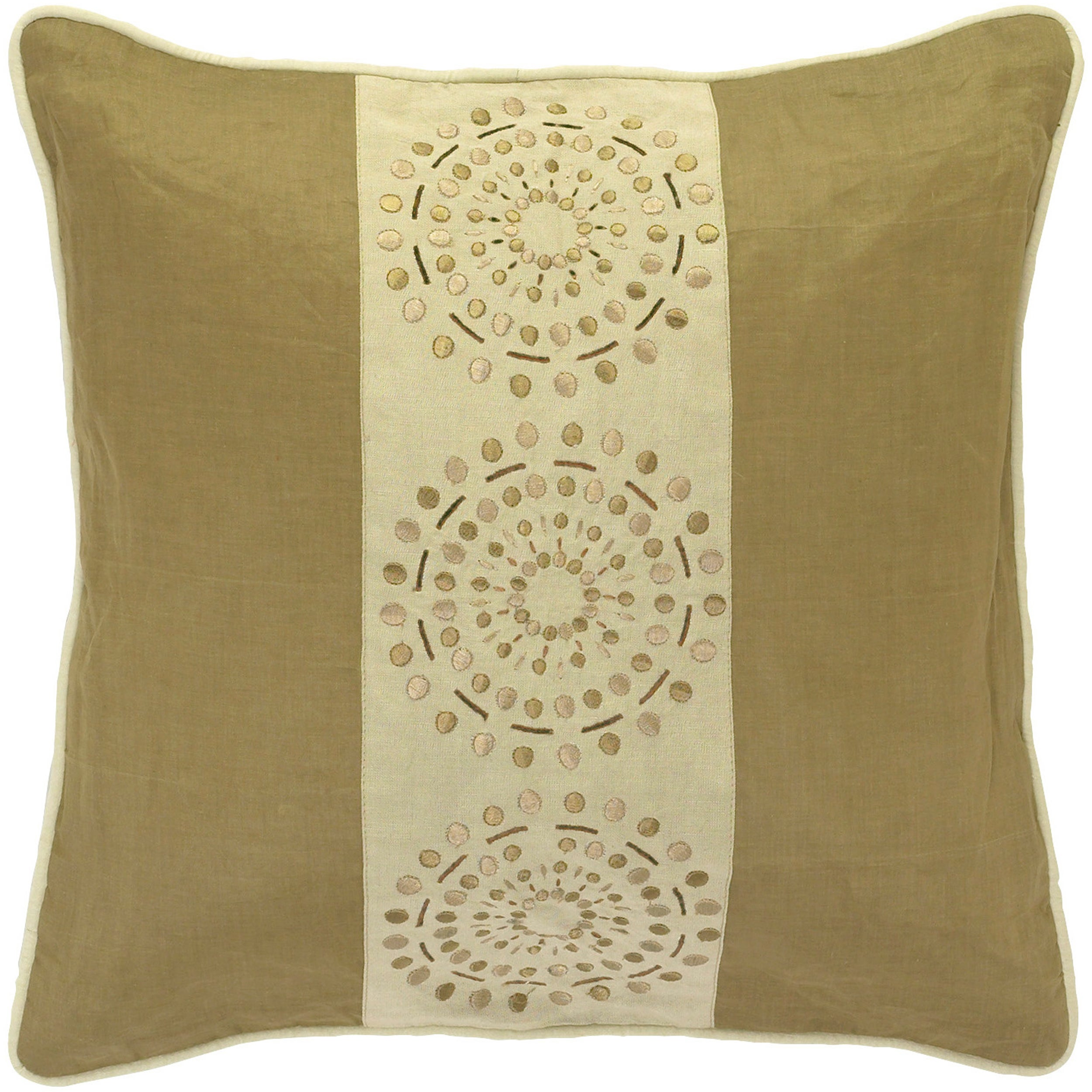 Mons Khaki/Tan Decorative Pillow