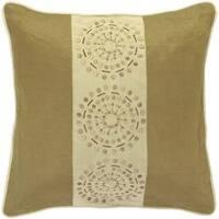 Mons Khaki/Tan Decorative Pillow