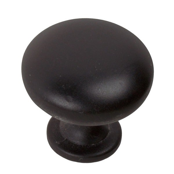 GlideRite 1.125-inch Matte Black Classic Round Cabinet Knobs (Pack of 25)