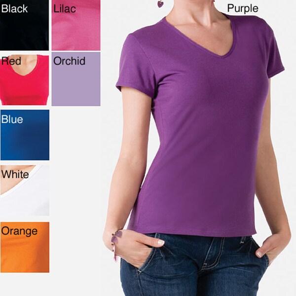 Illusion Women's Cotton V-Neck Tee