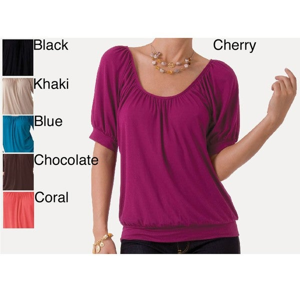 Illusion Women's Banded Scoop Neck Top