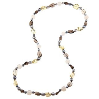 Miadora Valenza Multi-gemstone and Freshwater Pearl Necklace (6-8 mm)|https://ak1.ostkcdn.com/images/products/6445567/P14046613.jpg?_ostk_perf_=percv&impolicy=medium