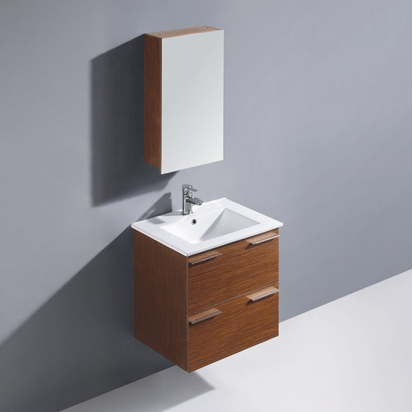 Vigo 24 Inch Ophelia Single Bathroom Vanity With Medicine Cabinet White