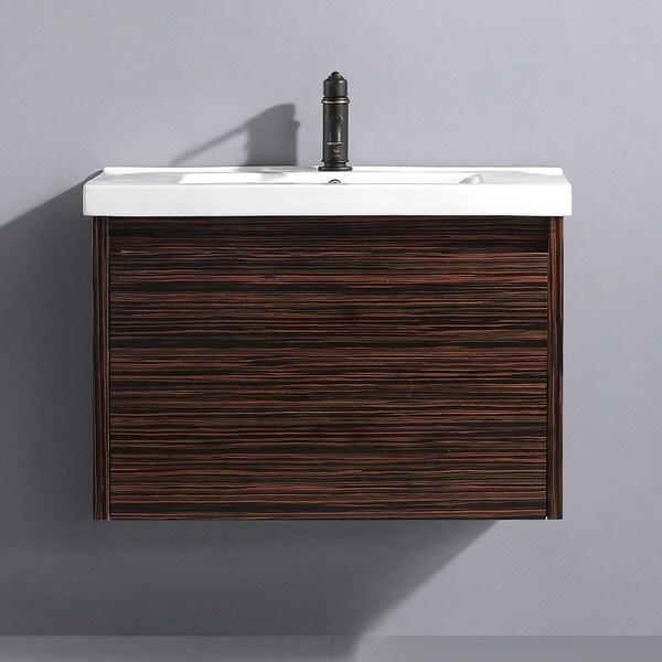 Vigo 32-inch Espresso Petit Single Bathroom Vanity