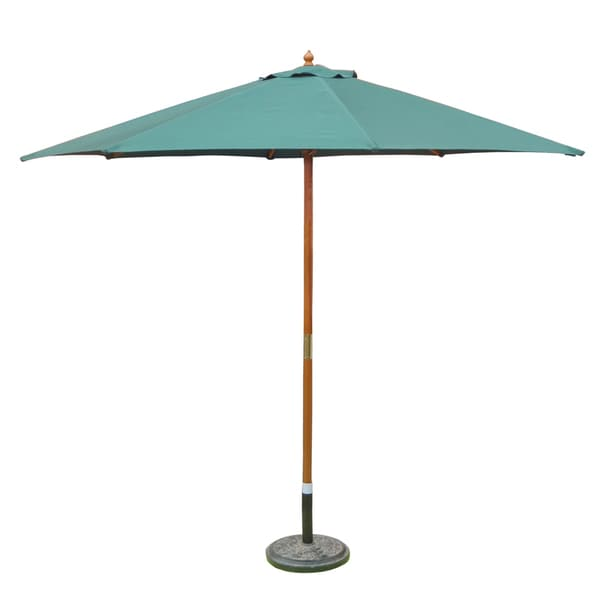 10 Foot Wooden Patio Umbrella With Pulley