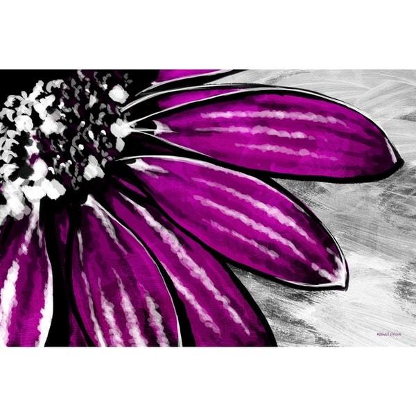 Maxwell Dickson 'Purple Petals' Wall Decor Canvas Art