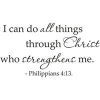 Vinyl Attraction 'I can do all things through Christ' Scripture Vinyl Wall Art