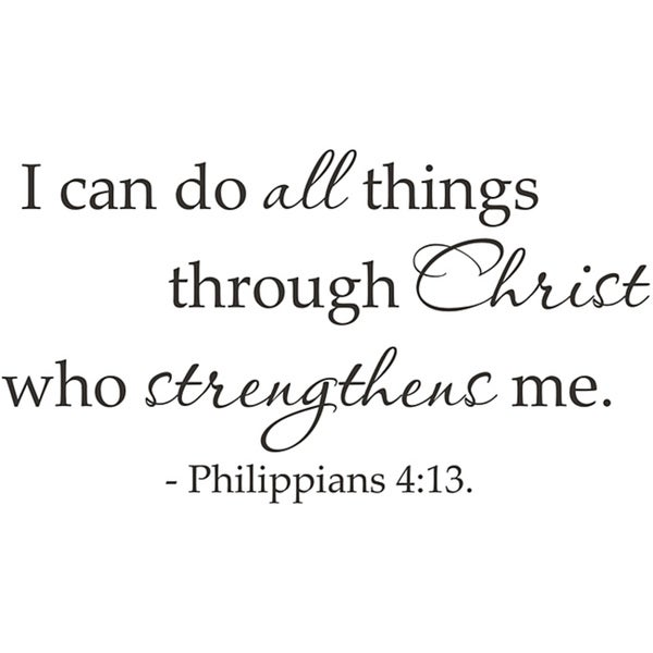 Shop Vinyl Attraction \'I can do all things through Christ\' Scripture ...