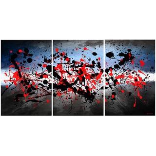 Maxwell Dickson 'Beautiful Mind' Abstract Canvas Wall Art (Set of 3)