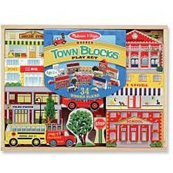 Melissa & Doug Town Blocks Play Set - Thumbnail 1