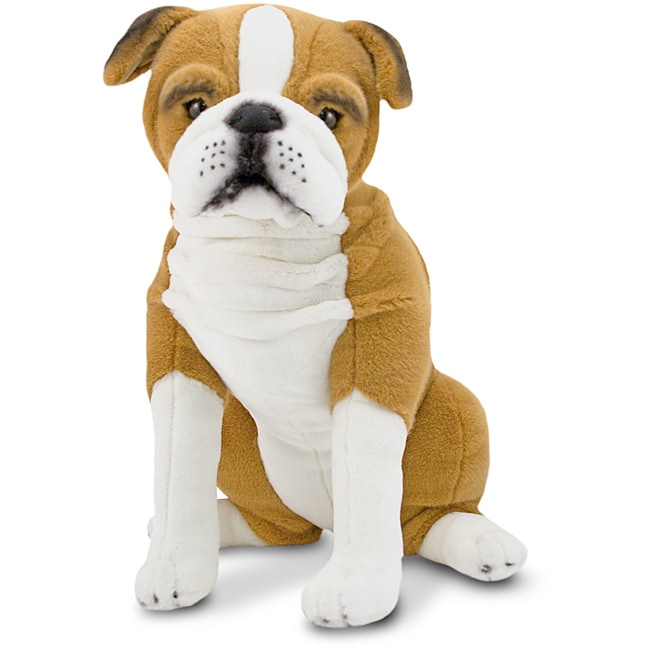 Melissa and Doug Plush English Bulldog Stuffed Animal, White
