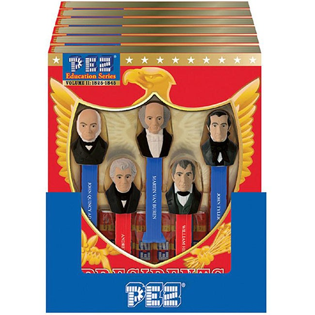 Pez 'Presidents of the USA Vol. 2 1825-1845' Assorted Candy Dispensers and Candy Rolls