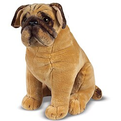 Melissa & Doug Plush Pug Stuffed Animal - Thumbnail 0