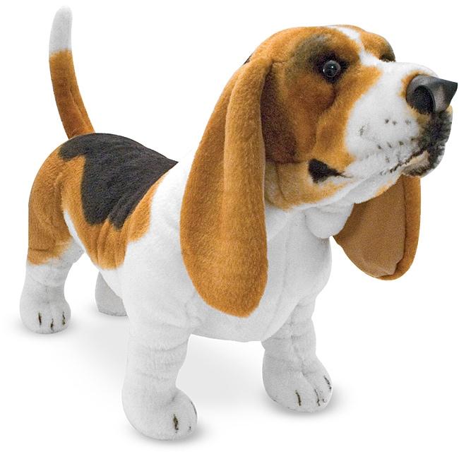 Melissa & Doug Plush Basset Hound Stuffed Animal