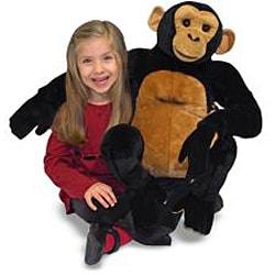 Melissa & Doug Plush Chimpanzee Stuffed Animal - Thumbnail 2