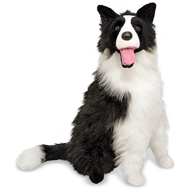 Melissa & Doug Plush Border Collie Stuffed Animal