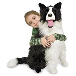 Melissa & Doug Plush Border Collie Stuffed Animal - Thumbnail 1