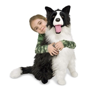 Shop Melissa Amp Doug Plush Border Collie Stuffed Animal