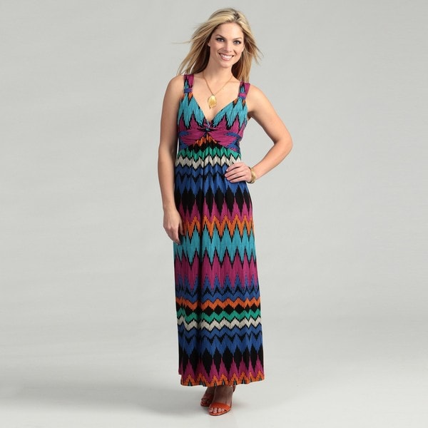Shop Spense Women S Striped Knot Front Maxi Dress Free
