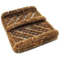 Rubber-Cal 'Herringbone' Coir Boot Scraper Brush