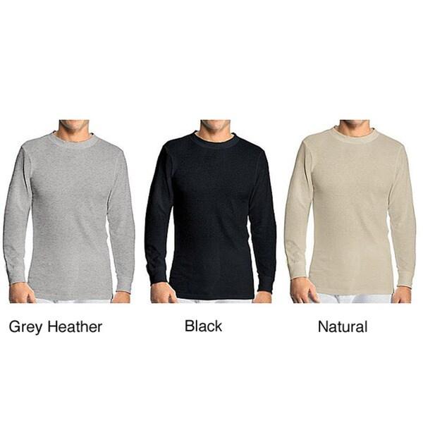 Hanes Men's Cotton Thermal Crewneck Top