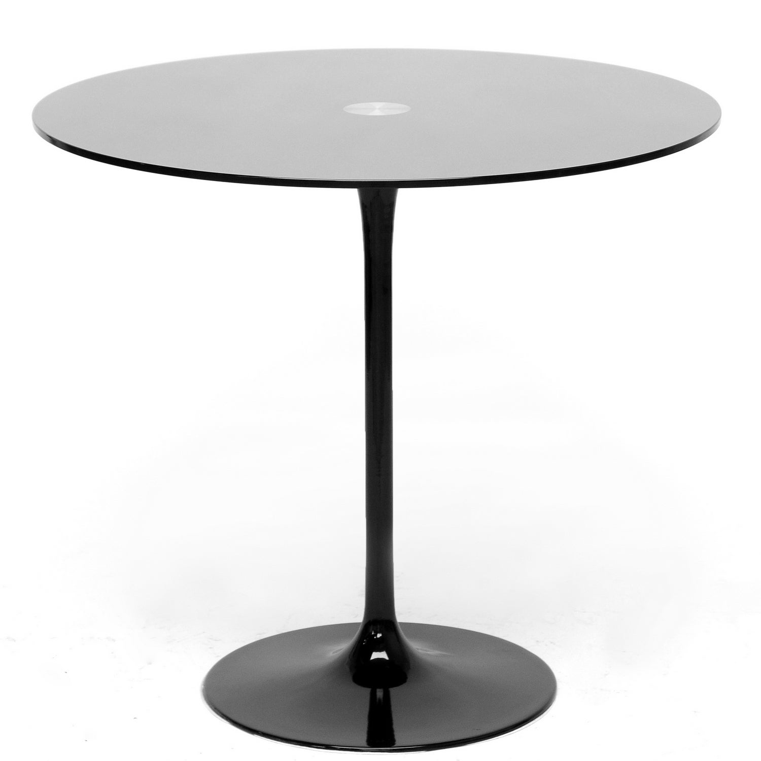Odensa Black Glass Modern Bistro Table Free Shipping
