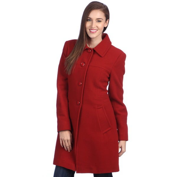 Larry Levine Women's Wool Coat (Available only in Black)