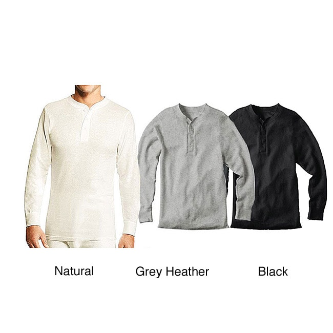 Hanes Men's Cotton Thermal Henley