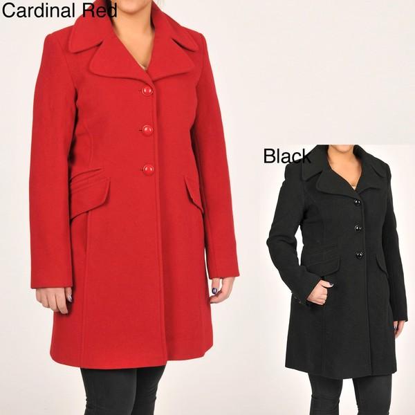 Larry Levine Women's Classic Wool Coat
