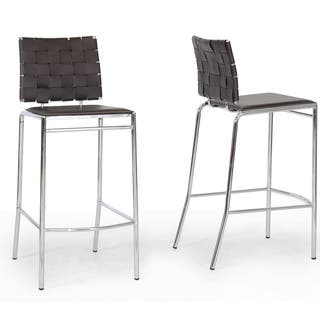 Modern Faux Leather 30 Quot Bar Stool By Baxton Studio Free