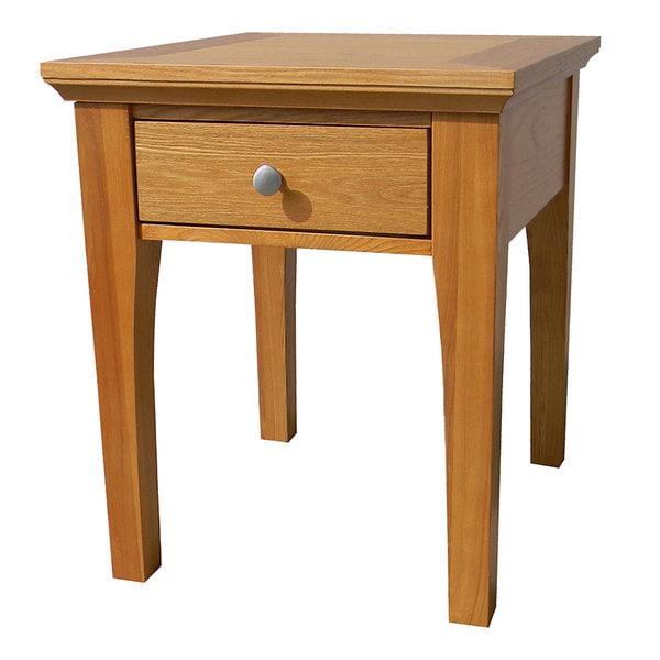 Fraser One-Drawer Golden Oak End Table