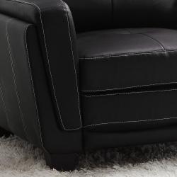 Leah Black Faux Leather Low Profile Chair